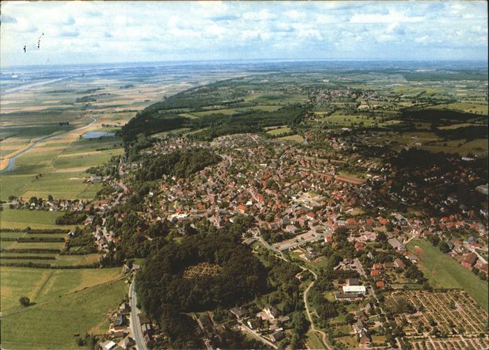 Burg von oben Flugaufnahme in Burg Dithmarschen