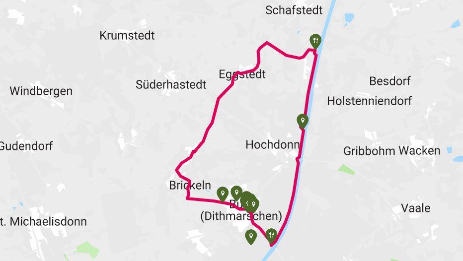 Radtour große Pötte in Burg Dithmarschen